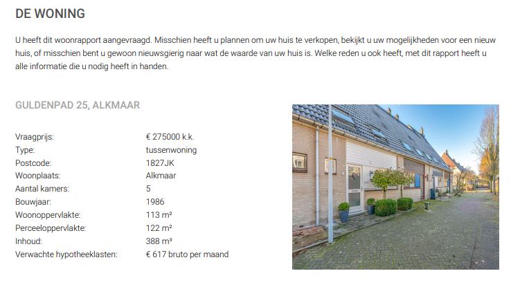 rapport woningrapport